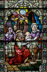 Nativity of the Blessed Virgin Mary (Lawrence OP) Tags: annejoachim saints blessedvirginmary ourlady stainedglass window phoenix stmarys basilica