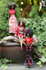 ladies in red (photos4dreams) Tags: photos4dreams p4d photos4dreamz barbie doll dress mattel toy barbies girl play fashion fashionistas outfit kleider mode photoshoot outdoor red rot kleid