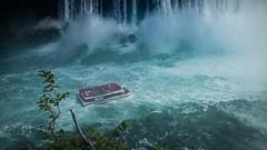 Niagara Falls, Horseshoe Fall (:Plagiaris3d) Tags: niagarafalls falls river lake riverboat blue x100s