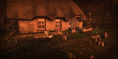 Home. (Seraphina Juliesse) Tags: home house ducks grass trees tree flowers thatched cottage english england countryside mountains secondlife sl