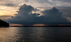 Twin Rain Clouds over Lake Lanier (Jon Ariel) Tags: lake lanier northgeorgia ga georgia atlanta water reflection rain