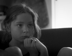 Captivated Youth (SteveKPhotography) Tags: sony stevekphotography alpha a99ii ilca99m2 sal50f14 50mm niftyfifty portrait child children girl blackandwhite monochrome greyscale naturallight candid youth
