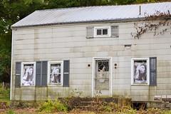 Bob Marley House (KaDeWeGirl) Tags: newyorkstate orange county warwick bob marley windows abandoned house neglected eyecatching