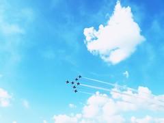 Airshow (avram.dana@ymail.com) Tags: plane sky blue clouds love