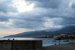 Grey sky (rub9011) Tags: messina sicilia sicily sky rain sea beach italia italy paesaggio landscape tramonto sunset