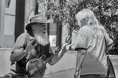 Musicien de rue (Mirarmor) Tags: personnes rue musicien scène de noir blanc monochrome