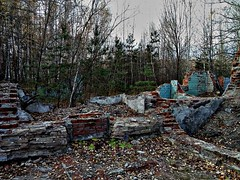 The Ruins 4 (mickygloom) Tags: ruins stone forest trees nature destroyed demolished buildings abandoned construction bricks walls wall decrepit old remnants