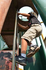 Everett Climbing The Playground Ladder (Joe Shlabotnik) Tags: 2018 aroostook august2018 everett justeverett maine playground vanburen afsdxvrzoomnikkor18105mmf3556ged