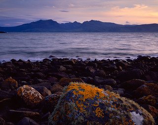 Arran with Lichens, Pink Dusk