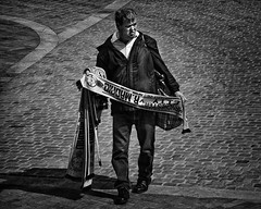 Scarf seller (JEFF CARR IMAGES) Tags: manchester northwestengland streetlife cityscapes