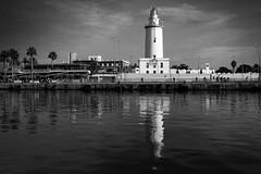 La Farola (petia.balabanova(tnx for +3 million views)) Tags: lafarola malaga spain andalusia lighthouse blackandwhite bw monochrome travel nikond800 2470mm water sea sky reflection faro