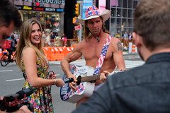 Naked Cowboy (dangaken) Tags: ny nyc newyorkcity newyorknewyork newyorkny bigapple empirestate city urban eastcoast september2018 september timessquare broadway 7thave times square public crowd bustle usa america manhattan midtownmanhattan upperwestside downtown naked nude cowboy nakedcowboy lenovo