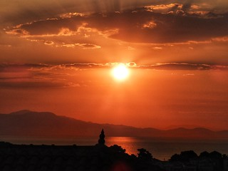 sunrise and orange sky
