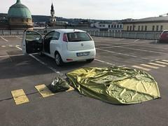 Zelt trocken in Stuttgart - Fiat Pinto