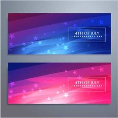 free vector usa independence day Flag Banners cards set (cgvector) Tags: