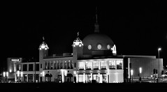 Whitley Bay - Spanish City at Night (Gilli8888) Tags: nikon p900 coolpix whitleybay tyneandwear spanishcity coast northtyneside night nightshots nightlights buildings architecture dome windows light blackandwhite geometry geometric coastal eastcoast seaside