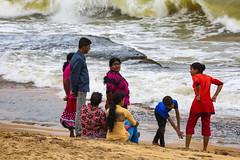 A Family On A Sri Lankan Beach (El-Branden Brazil) Tags: srilanka beach sea waves asia asian colombo ocean