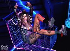 . Kiim . #Besom #Lelutka #GlamAffair #SU #HolliMil #Maitreya #Semller #ValeKoer #Cynful (Crayolas Clothes) Tags: besom lelutka glamaffair su hollymill maitreya semller valekoer cynful street romper jacket tattoo ink socks shoes sneakers lunar smoky neon girl gurl lady women woman babe baby bae sl slfashion slblogger secondlife