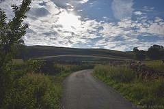 Road from Horton-in-Ribblesdale (Bri_J) Tags: yorkshirethreepeaks walk yorkshiredales nationalpark northyorkshire uk yorkshire threepeaks countryside nikon d7200 road hortoninribblesdale sun clouds sky