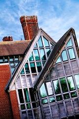 jerwood library, trinity hall, cambridge (khrawlings) Tags: trinity hall cambridge library new building architecture chimney brick glass windows lines jerwood university