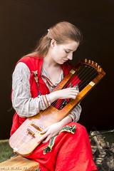 Women Playing The Saxon Lyre (Mark Haddon Images) Tags: saxonwomen saxons reenactment saxonlyre musicinstrument