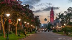 San Diego, CA: Museum of Man, California Tower, Balboa Park (nabobswims) Tags: ca california californiatower highdynamicrange ilce6000 lightroom mirrorless museumofman nabob nabobswims photomatix sel18105g sandiego sonya6000 sunset us unitedstates