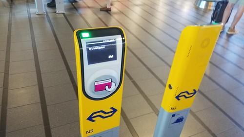 Dutch Trains fare validators
