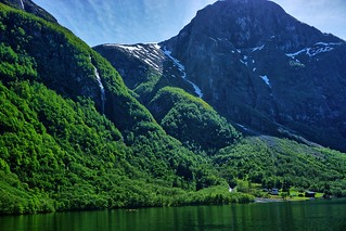 Crossing the Naeroy fjord