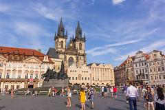 Staroměstské náměstí (RunningRalph) Tags: church czechrepublic prague praha praag hlavníměstopraha tsjechië cz