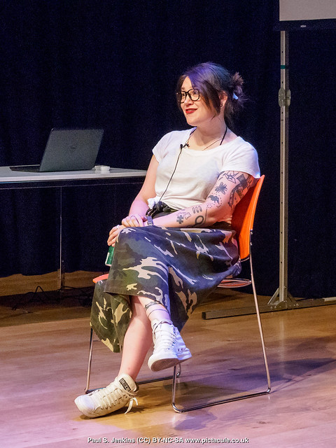P7260245 Sarah Corbett at Winchester Skeptics