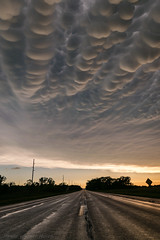 Mammatus over the Road (mesocyclone70) Tags: mammatus thunderstorm storm anvil road stormchase weather sunset sky clouds