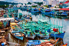 Phu Quoc, Vietnam (Kevin R Thornton) Tags: d90 phuquoc landscape travel port nikon boat fishingboat vietnam harbour duongdong thànhphốphúquốc tỉnhkiêngiang vn