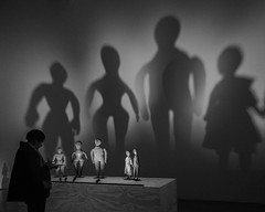 Maison Rouge, Black Dolls exhibition (deborahb0cch1) Tags: museum musée exhibition doll dolls light shadow shadows spooky people peoplevisiting art craft admiringart admirer visitor museumvisitor