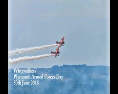 Wingwalkers 30th June 2018 (JDurston2009) Tags: plymoutharmedforcesday aerosuperbatics a75n1stearman armedforcesday2018 boeinga75n1stearman theflyingcircus armedforcesday boeingstearman wingwalkers devon plymouth
