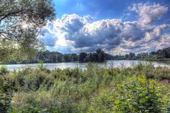 Obersee in Bielefeld (HDRforEver) Tags: hdr photomatix karstenhöltkemeier bielefeld obersee sky clouds bluesky summer 2017 green blue new interesting canon 600d lake nrw nordrheinwestfalen owl ostwestfalen