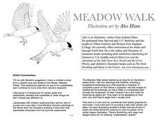 MeadowWalkArtistStatement (Alex Hiam) Tags: opening artiststatement exhibit goldfinches layout design hiam