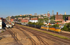 "Westbound Transfer in Kansas City, MO (""Righteous"" Grant G.) Tags: up union pacific railroad railway locomotive train trains west westbound transfer yard job kansas city missouri emd power freight"
