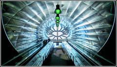 Sortie Métro Louis Armand (thierrybalint) Tags: métro louisarmand marseille voyageurs canon escalator travelers ceiling people metrolines symmetry tunnel reflets reflections