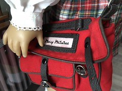Molly's school bag (Foxy Belle) Tags: doll american girl molly school first day 14 scale miniature toys 1940s wwii scenes settings book background ag 18 inch