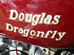 549 Douglas (Dragonfly) Badge - History (robertknight16) Tags: douglas british motorcycle badge badges automobilia brooklands