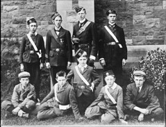 Boys in uniform (National Library of Ireland on The Commons) Tags: ahpoole arthurhenripoole poolecollection glassnegative nationallibraryofireland boys uniform pillboxhats posed fightthegoodfight churchladsbrigade churchladsandchurchgirlsbrigade christchurchcathedral dublin christchurch medals belts buckles anglican