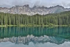 Lake Carezza, Western Dolomites,Italy (kukkaibkk) Tags: dolomites italy carezza lake
