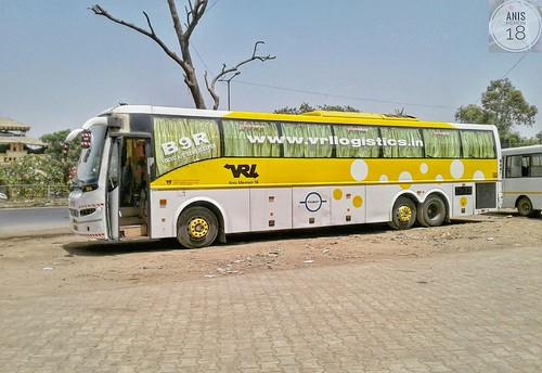Vrl Travels Multi Axle Volvo B9r Semi Sleeper Coach Bus