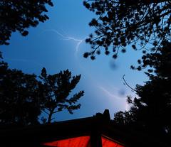 Lightning (scienceduck) Tags: scienceduck 2018 september muldrew muldrewlake lakemuldrew cottage cottagecountry muskoka lightning rain storm sky night tree water lake