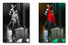B&W or COLOR??? (Santos'Photography) Tags: canon canon7020028isii canon7d godox model dominican lady color gel