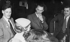 Cool dudes (vintage ladies) Tags: blackandwhite vintage portrait people photograph female woman lady male man men smoking cigarette 50s