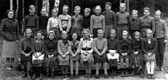 Class photo (theirhistory) Tags: boy girl child kid school pupils students class group form