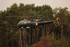 Black Magic (crusader752) Tags: belgiannavy aérospatiale sa316b alouette m21816otzpb kleinebrogel belgianairforcedays airshow alouetteiii helicopter