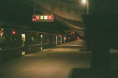 midnight (briandodotseng59) Tags: 台灣 底片 菲林 富士 火車 asia taiwan west train spring night light shadow exposure film fujifilm c200 olympus 35sp color coth5 red yellow black white classic old 42mm 35mm frame street streetphoto urban city