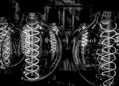 Electrification (Natalia Medd) Tags: light bulbs electricity electrification bw blackandwhite monochrome contrast iphone 8 plus